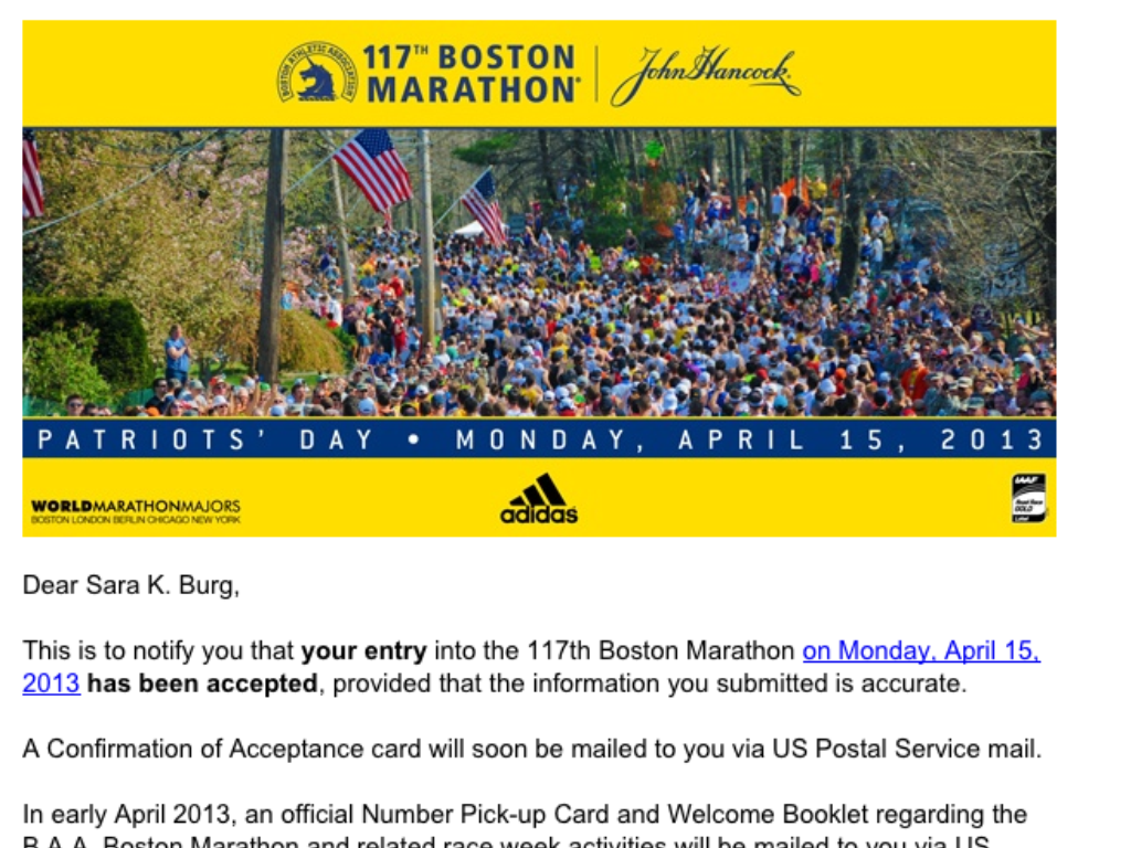 Boston Marathon – Here I Come!