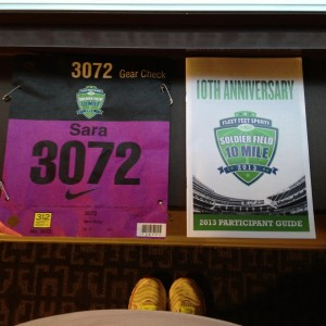 Soldier Field 10 Mile Bib